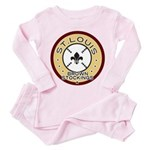 Brown Stockings Logo Toddler Pink Pajamas