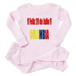 20 Julio Colombian day Toddler Pink Pajamas