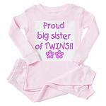 Big sister of twins Toddler Pink Pajamas