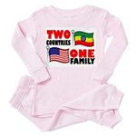 Two Countries/One Family Toddler Pink Pajamas