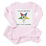 OES Just Like Gramma Toddler Pink Pajamas