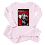 Obey the Weimaraner! Baby/Toddler Pink Pajamas