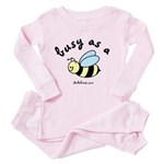 busy as a bee Toddler Pink Pajamas