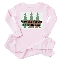 May the Forest be with you Toddler Pink Pajamas