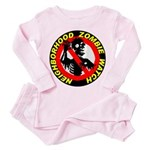 NEIGHBORHOOD ZOMBIE WATCH Toddler Pink Pajamas