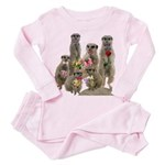 Meerkat Toddler Pink Pajamas