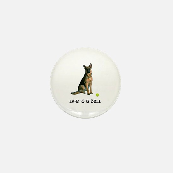 German Shepherd Life Mini Button