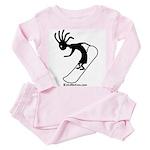 Kokopelli Snowboarder Toddler Pink Pajamas