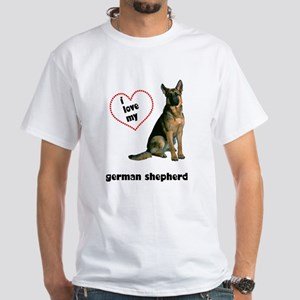 German Shepherd Lover White T-Shirt