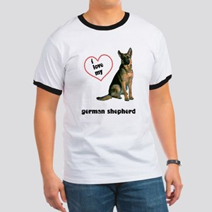 German Shepherd Lover Ringer T