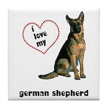 German Shepherd Lover Tile Coaster