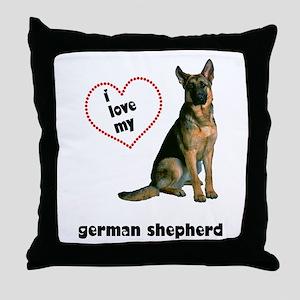 German Shepherd Lover Throw Pillow