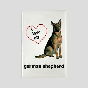 German Shepherd Lover Rectangle Magnet