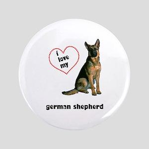 "German Shepherd Lover 3.5"" Button"