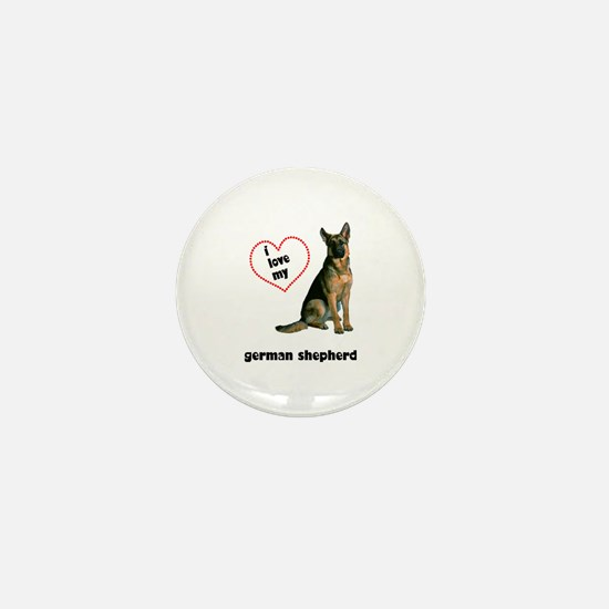 German Shepherd Lover Mini Button
