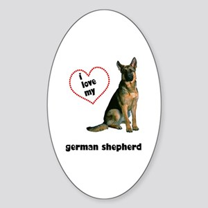 German Shepherd Lover Oval Sticker