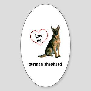 German Shepherd Lover Oval Sticker