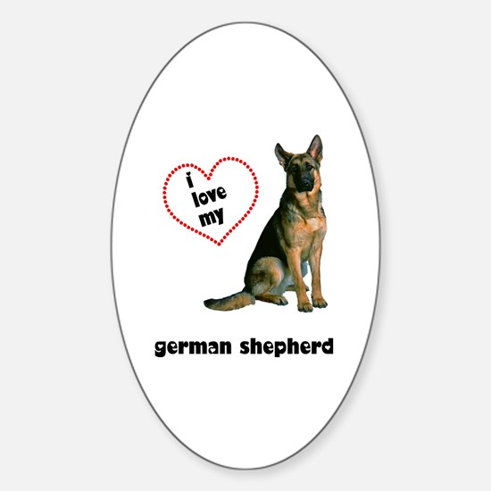 German Shepherd Lover Oval Decal