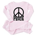 Peace Toddler Pink Pajamas