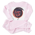 Black Dragon Toddler Pink Pajamas