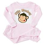 Silly Monkey Toddler Pink Pajamas