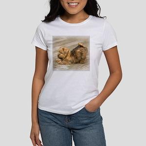 Playful Norfolk Terrier Pup Women's T-Shirt