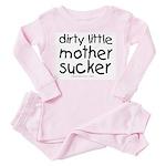 dirty little mother sucker Toddler Pink Pajamas