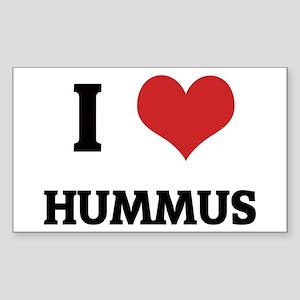 I Love Hummus Rectangle Sticker