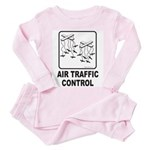Air Traffic Control Toddler Pink Pajamas