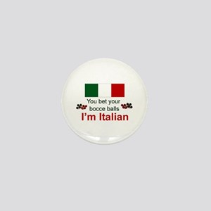 Italian Bocce Balls Mini Button (10 pack)