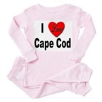 I Love Cape Cod (Front) Toddler Pink Pajamas