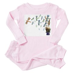 Dragonfly Swarm - Toddler Pink Pajamas