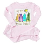 Jones Beach Surfer Toddler Pink Pajamas