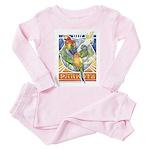 A Parrot's World Toddler Pink Pajamas