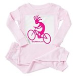 Kokopelli Mountain Biker Toddler Pink Pajamas