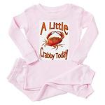 Little Crabby Toddler Pink Pajamas