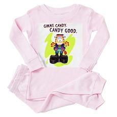 Garfield Gimme Candy Toddler Pink Pajamas