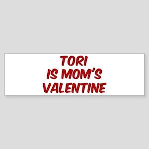 Toris is moms valentine Bumper Sticker