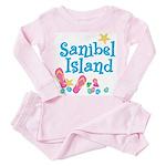 Sanibel Island - Toddler Pink Pajamas