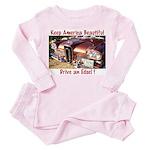 Drive an Edsel Toddler Pink Pajamas
