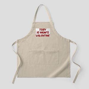 Tobys is moms valentine BBQ Apron