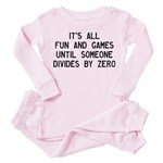 Fun And Games Divide By Zero Toddler Pink Pajamas