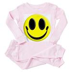 Smiley Face Toddler Pink Pajamas