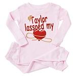 Taylor Lassoed My Heart Toddler Pink Pajamas