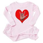 ILY Heart Toddler Pink Pajamas