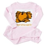 Peanut Butter Monster Toddler Pink Pajamas