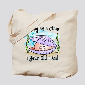Happy Clam 1st Birthday Tote Bag