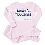domesticTerrorist Toddler Pink Pajamas