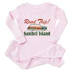Road Trip! - Sanibel Toddler Pink Pajamas