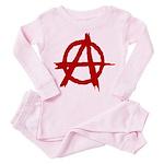 Anarchy Symbol Toddler Pink Pajamas